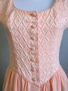 Ballerina Dress Vintage Peach Pink Princess by InTheHammockVintage, $34.00