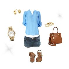 Company day baseball game outfit ideas- watch and shirt in red??