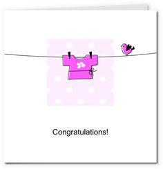 free printable baby cards - pram girl | Cards | Pinterest | Baby ...