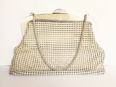 Genuine Glomesh Vintage cream purse or by MyHighStreetBoutique