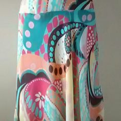"""Skirt Heart soul multi colored skirt. 100% polyester  Length is 30"""" at the longest point in front. HeartSoul Skirts"""