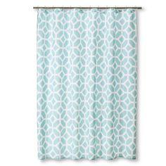 Helix Modern Geo Shower Curtain