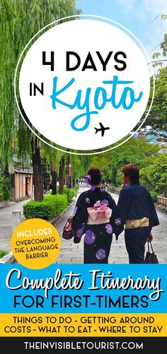 Take the extra time to discover this historical city. My 4 Days in Kyoto Itinerary ensures you'll cover the most important sights in Japan's old capital! Travel in Asia.