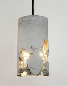 Concrete lamp. The buyer removes the concrete and creates his own lamp. Amazing!