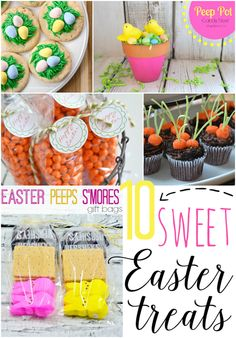 10 Sweet Easter Treats at GingerSnapCrafts.com #Easter #sweettreats