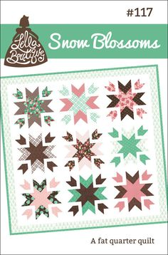Snow Blossoms 117 Quilt Kit by handmadeisheartmade on Etsy, $105.00
