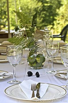 Nothing pops better than green floral and fruit on a white tablecloth. Use this for your next Garden Party or outdoor Sunday Brunch