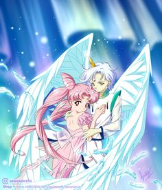 'Future Lovers ~ Chibiusa & Helios ~ Sailor Moon' Poster by SassySpice Sailor Chibi Moon, Sailor Pluto, Arte Sailor Moon, Sailor Moon Super S, Sailor Jupiter, Sailor Princess, Sailor Moon Crystal, Chibiusa Y Helios, Sailor Moon Personajes