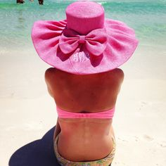 SO CUTE!! Monogrammed Derby Hat | Wide Brim and Bow | Beach Hat | Summer Necessities | Marley Lilly