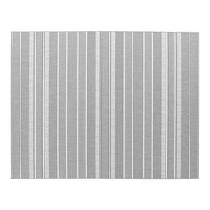 grey striped rug from Crate and Barrel