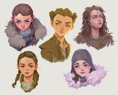 Arya Stark - Game of Thrones Dessin Game Of Thrones, Game Of Thrones Arya, Character Concept, Character Art, Character Design, Arya Stark Art, Arya Stark Aesthetic, Game Of Thones, Valar Morghulis