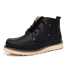 Leather Men's Flat Heel Comfort Ankle Work & Safety Boots (More Colors) – CAD $ 41.91...love them.....order!