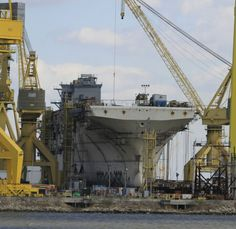 The building of the aircraft carrier USS America CV 66 / Decommissioned in 1995.