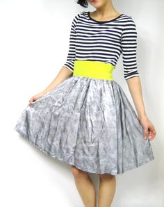 30 OFF SALE Handmade Highlighter Full Party Skirt by honeymoonmuse, $30.00
