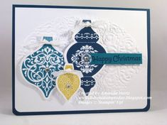Ornament Trio FabFri04 by mandypandy - Cards and Paper Crafts at Splitcoaststampers