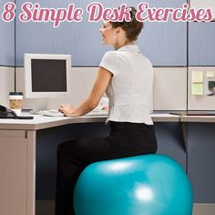 8 simple desk exercises to try