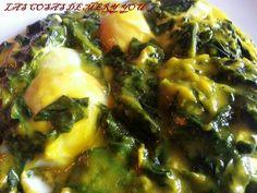 Espinacas con huevo en papillote