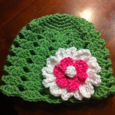 Shell stitch hat I made