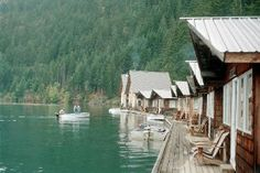 Go Camping at Ross Lake Floating Cabins for rent - North Cascades in Washington - I WANT TO GO HERE!