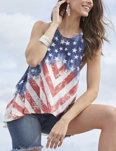 Shop today for Signature Studio American Flag Print Tank Top & deals on Camisoles & Tank Tops! Official site for Stage, Peebles, Goodys, Palais Royal & Bealls.