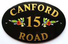 Hand Painted House Signs by Ceramic Art: Hand Painted House Signs with Flowers, Birds and T...