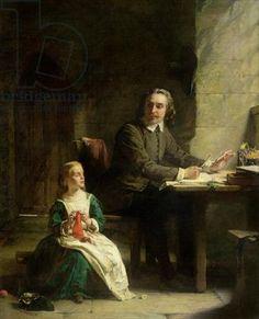 In Bedfort Jail - John Bunyon (1628-1699)and his blind daugther,  Alexander Johnston (1815-1891)