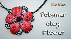 Polymer Clay Flower tutorial - Pendant charm by MoClay