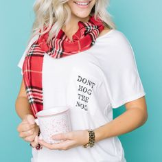 Amelia James Holiday Sydney Tee Don't Hog the Nog - find out when you can get one!