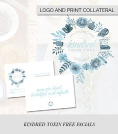 Kindred Toxin Free Facials — Branding by Raspberry Stripes