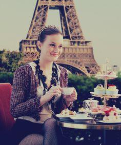 Leighton Meester, Gossip Girl's Blair Waldorf enjoys a classic afternoon tea