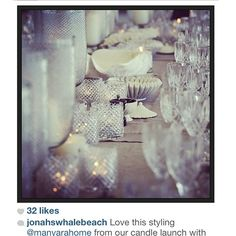 Repost from @jonahswhalebeach  LOVED styling this dinner launch for your collaboration with @palmbeachcollection