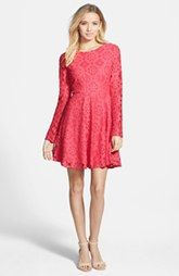 38cf8b33b4 Feminnie - floral dress Painted Threads Floral Lace Skater Dress (Juniors)  Lace Overlay Dress