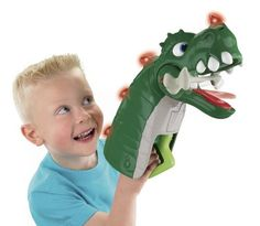 Fisher-Price Imaginext Spike Jaws Ultra Dinosaur by Fisher-Price. $17.99. Put the Spike Jaws on your hand, squeeze the handle and CHOMP down. Boys will love the interactive excitement of Spike. Boys will love to pick up all sorts of things. Spike has lights, great eye movement, and fun sounds. Put Spike in one of his two sound modes, fun mode or roar mode. From the Manufacturer                If you like Spike the Ultra Dinosaur, you'll love the Spike Jaws! Boys ju...
