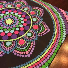 Handmade 8x8-inch Dot Mandala on Canvas Dot Painting