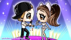 How to Draw Ariana Grande + Justin Bieber Chibi Singing Together
