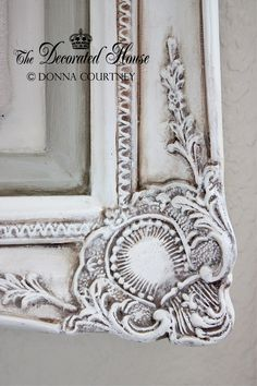Antiqued Old White Chalk Paint With Paris Grey Accents