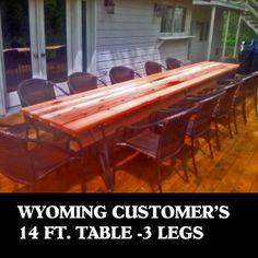 Flat Iron Slab Bench Leg Or Slab Table Metal Leg Set Unfinished, 7 In.(17.8cm)…
