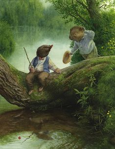 Heard The News? This willow tree can be found in a 2 min walk from my house, I'm glad I've finally painted it. Chris Dunn, Fairytale Art, Fairy Art, Children's Book Illustration, Whimsical Art, Fantasy Art, Fairy Tales, Artwork, Anita Jeram