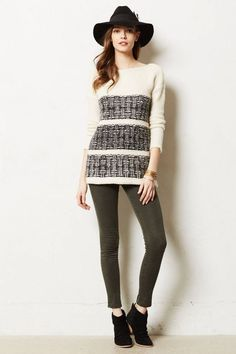 NWT ANTHROPOLOGIE AILIN IVORY PULLOVER SWEATER by AMATEURS M #Amateurs #Pullover