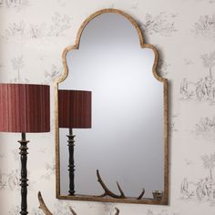Aria Antique Gold Mirror Description A beautiful, chic curved metal framed mirror finished in a rich antique gold. Dimensions: H: 104 W: Aria Antique Gold Mirror Our Price: Mirror Wall Collage, Wall Mirror With Shelf, Mirror Gallery Wall, Black Wall Mirror, Wall Mirrors Set, Rustic Wall Mirrors, Wood Framed Mirror, Round Wall Mirror, Frames On Wall