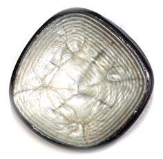 Button / Black Glass DF Plastic Finish  /  Vintage - Medium by KPHoppe on Etsy