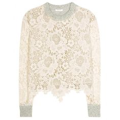 See by Chloé - Lace and wool sweater -  seen @ www.mytheresa.com