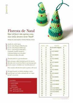 Floresta de natal crochet idea y patron