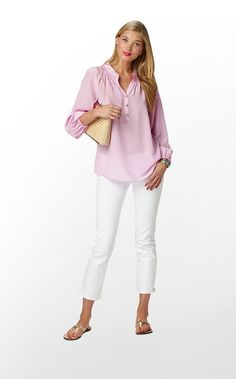 <3 the Elsa top! This color, Pink Hyacinth, is a must : )