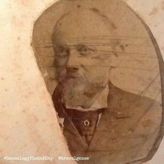 "Day 4 - D - Dawson This is the only photo I have of my Great grand father Edward Charles Dawson. He was born in 1853 and died in 1913. It's a shame that someone decided to scratch it however with modern digital photo techniques I have a ""fixed"" version. ... #GenealogyPhoto #GenealogyPhotoaday #genealogy #familyhistory #Dawson"