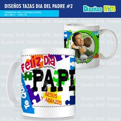 PLANTILLAS DIA DEL PADRE PARA TAZAS PACK # 2 Mugs, Tableware, Shopping, Clean Eating Pancakes, Free Downloads, Happy Day, Parents, Dinnerware, Tumblers