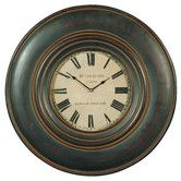 Found it at Wayfair - Adonis Wall Clock in Distressed Black