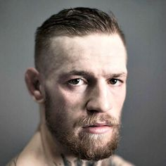 Conor McGregor Haircut - Short Side Part with Fade and Full Beard Popular Short Haircuts, Cool Short Hairstyles, Slick Hairstyles, Loose Hairstyles, Haircuts For Men, Conor Mcgregor Haircut, Best Barber Clippers, Baby Hair Gel, Comb Over Fade