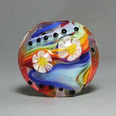 Handmade Lampwork focal Bead by Ikuyo SRA by ikuyoglassart on Etsy, $50.00