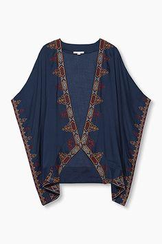 Esprit / Kimono léger orné de belle broderie